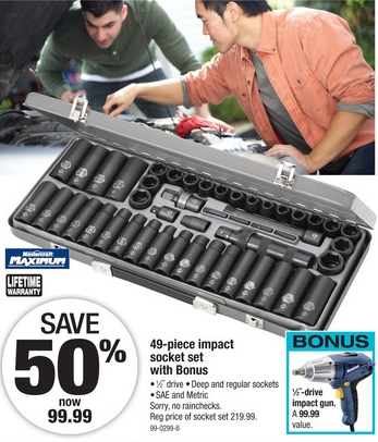Canadian Tire Impact Socket Set deal