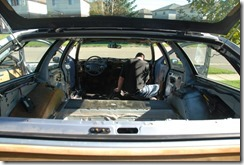 Replacing the Roadmaster wagon interior. One long car!