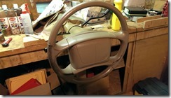 Buick Roadmaster Wagon Interior Replacement. Recolouring the steering wheel.